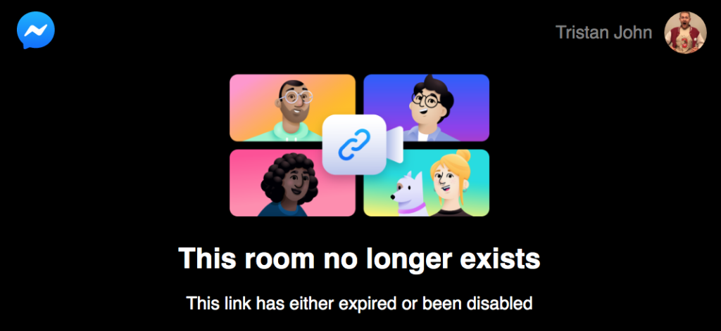 Facebook Rooms Room No Longer Exists