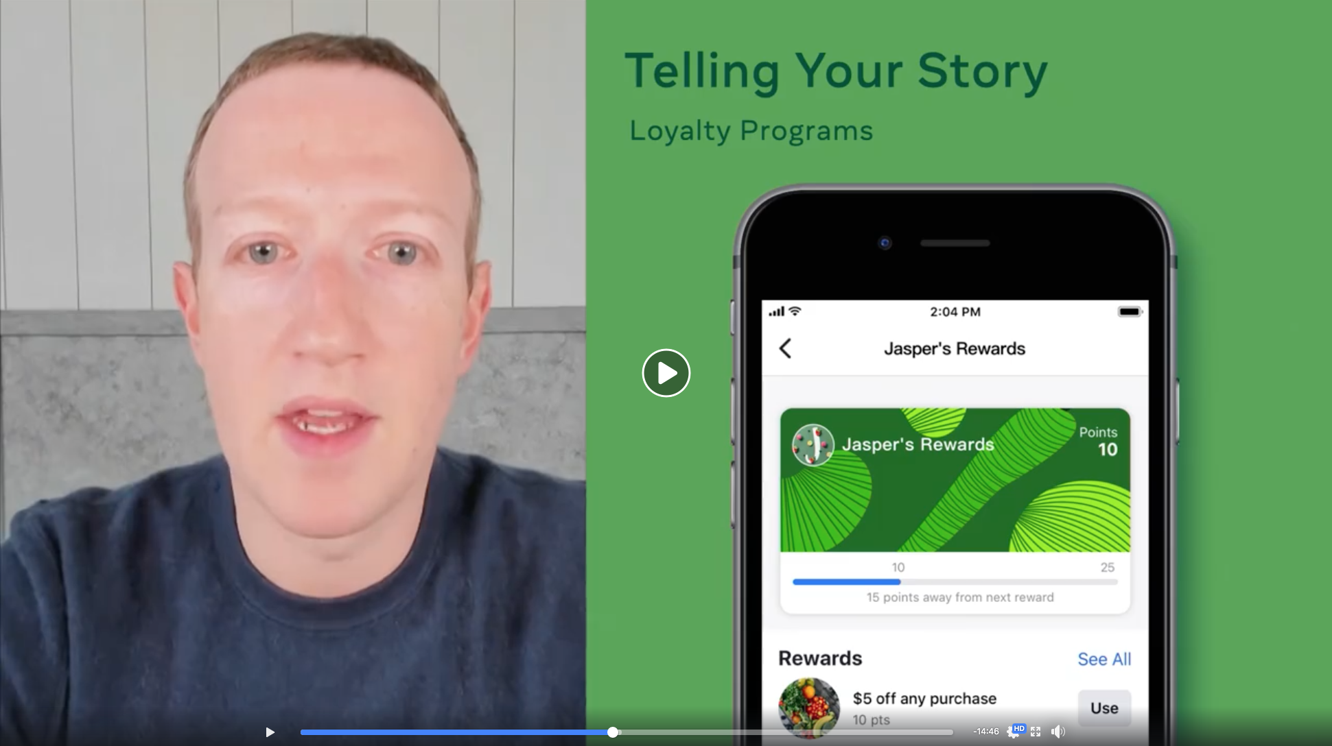 Facebook Shops - loyalty programmes