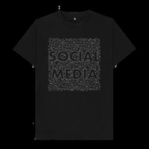 Social Media Symbol Shirt (black)