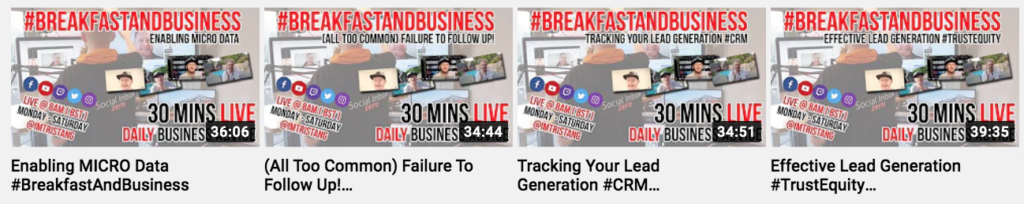 #breakfastandbusiness Youtube Thumbnails